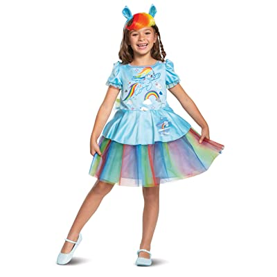 Disguise Rainbow Dash My Little Pony Tutu Deluxe Girls' Costume, Blue: Toys & Games