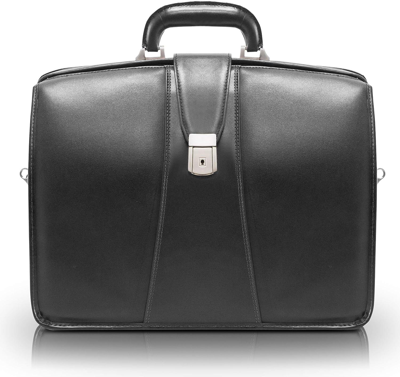McKleinUSA Harrison 83385 V Series 17-Inch Partners Full Grain Oil Tanned Leather Laptop Brief (Black)