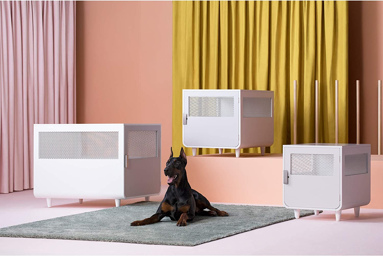 Radius Wooden Dog Crate Medium Alpine White Staart