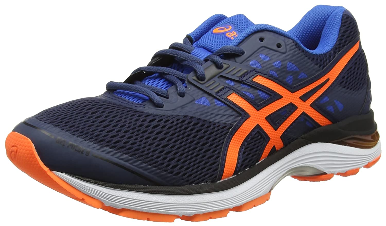 Asics Gel-Pulse 9, Zapatillas de Running para Hombre 45 EU|Azul (Dark Blue/Shocking Orange/Victoria Blue 4930)