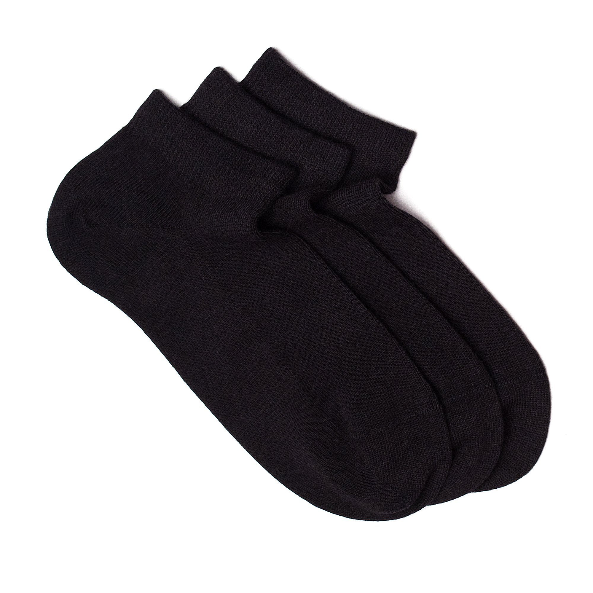Women's Low Cut Socks, 3 Pairs Pack. Seamless Fit, Fine Combed Cotton, Reinforced Sole