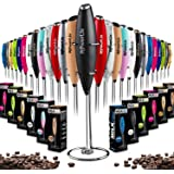 PowerLix Milk Frother Handheld Battery Operated Electric Whisk Beater Foam Maker For Coffee, Latte, Cappuccino, Hot Chocolate