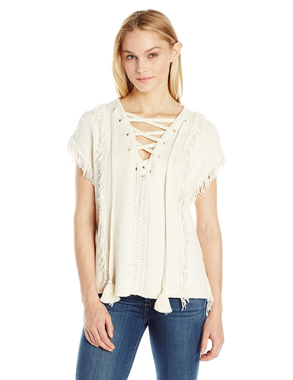Pam & Gela Women's Fringe Baja Sweater IY9052