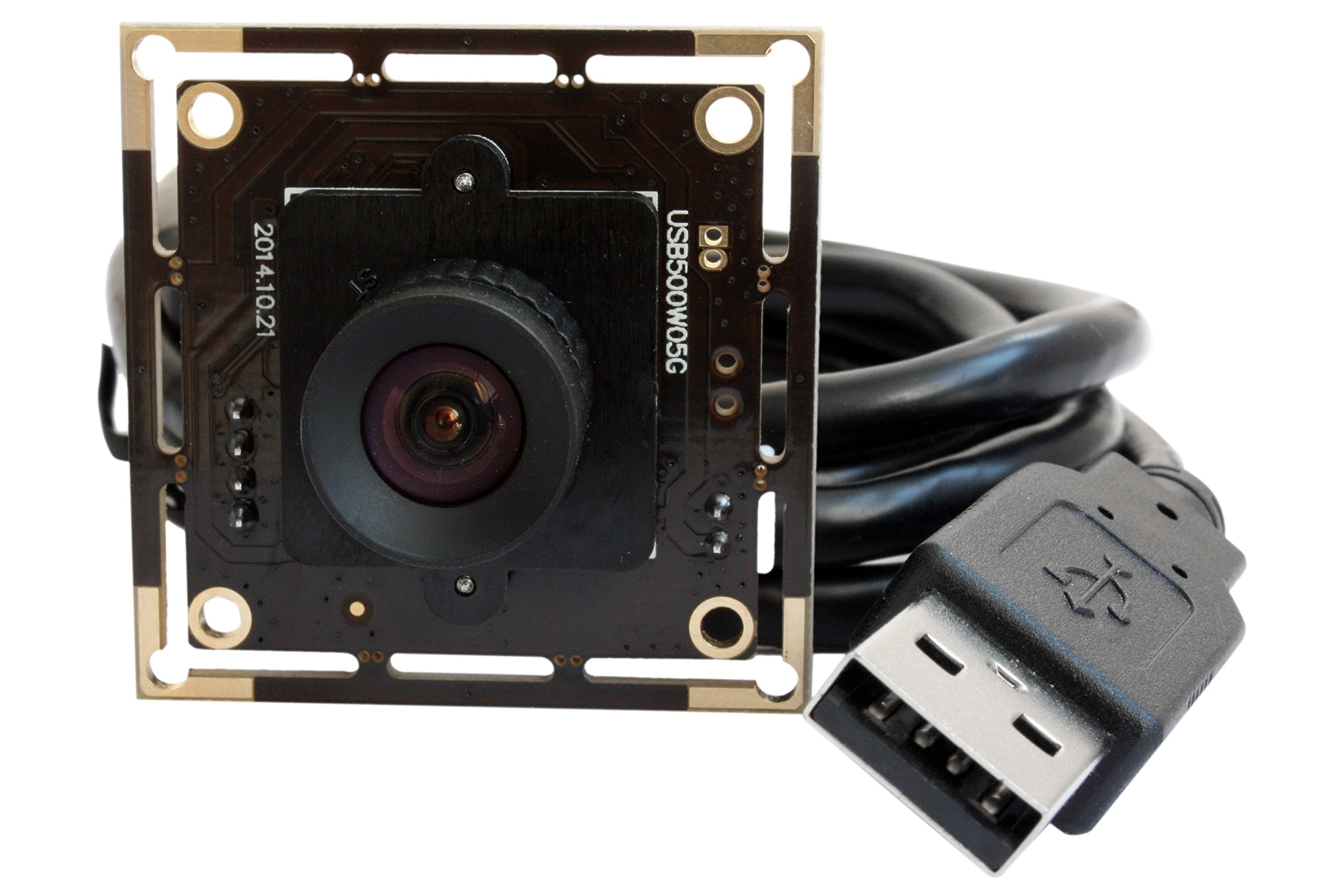 ELP 5megapixel Usb Camera module,usb with Camera 2592x1944 FHD Wide Angle Mjpeg,uvc 5megapixel Hd USB Camera module for Industrial, Machine Vision,undistorted Imaging,correctable,aptina Sensor.fhd Usb Camera.2592x1944 FHD UVC Yuyv.