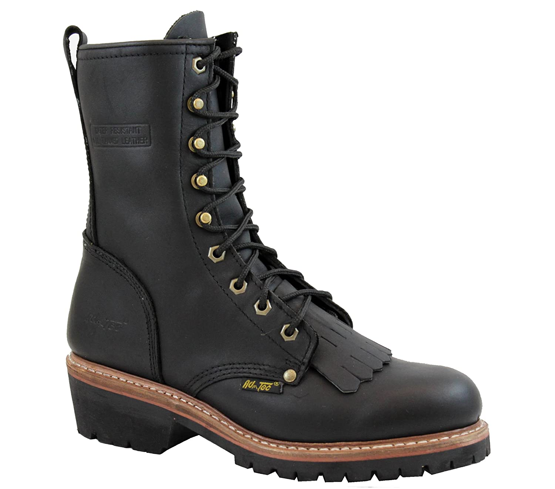 "Adtec Men's 10"" Fireman Logger Boots Oil & Heat Resistant"