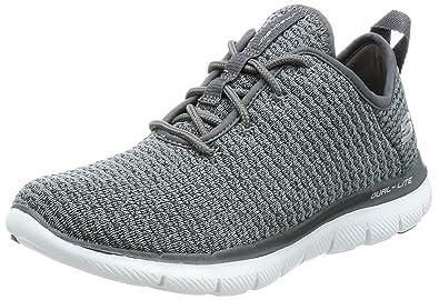 3bcc8c59b2 Skechers Womens Flex Appeal 2.0 Sneaker - Bold Move Charcoal Size 6