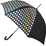 Paraguas con el cambio del color del arco iris