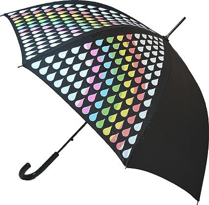 Paraguas con el cambio del color del arco iris: Amazon.es ...