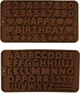 Murong Z Letters +Happy Birthday/Numbers/Symbols Mold Chocolate Decorating Silicone Tray (