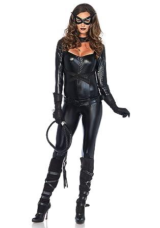 Leg Avenue Black Cat Girl Costume (X-Small)  sc 1 st  Amazon.com & Amazon.com: Leg Avenue 4 Piece Cat Girl Jumpsuit Belt Gloves And Eye ...