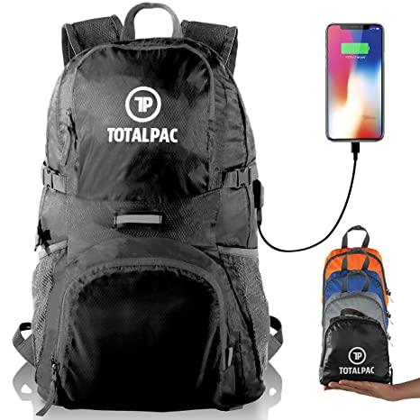f706cd303 Totalpac Lightweight Foldable Packable Backpack - Perfect Daypack for  Traveling & Camping - Small Hiking Backpack