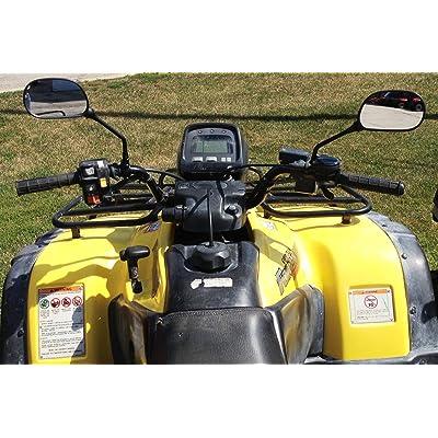 Maverick Rearview Mirrors Fit ATV's Such as Polaris, Honda, Suzuki, Kawasaki, and Yamaha: Automotive