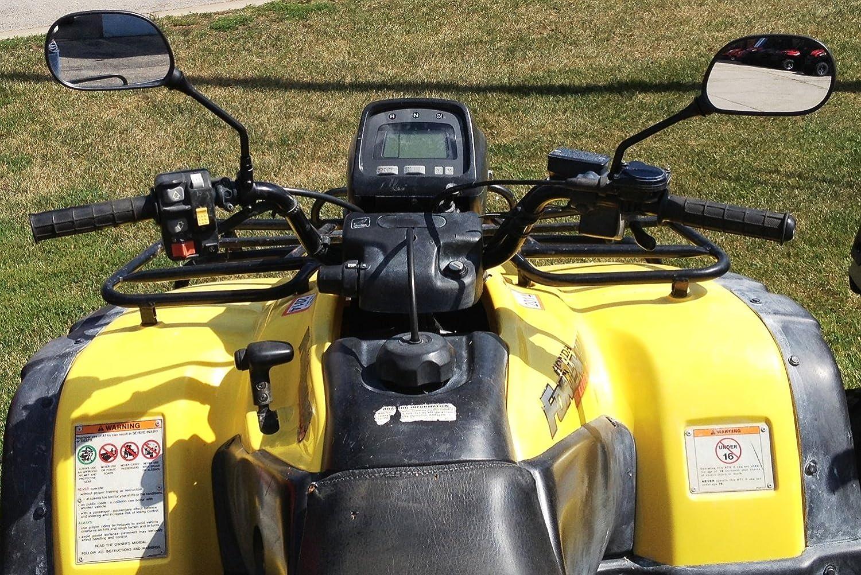 Maverick Rearview Mirrors Fit ATV's Such as Polaris, Honda, Suzuki, Kawasaki, and Yamaha