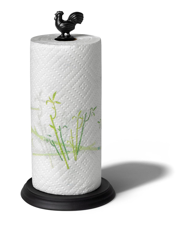 Country Black Rooster Paper Towel Holder Regular Jumbo