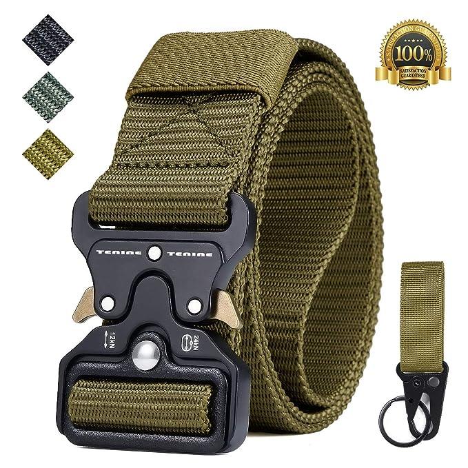 Cinturón Táctico, Tenine Cinturón Militar de Nailon de 1.5 Pulgadas Táctico Resistente con Correa de