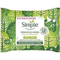 Simple Bio Cleansing Wipes, Voor Het Zachtjes Reinigen Van De Huid, Biologisch Afbreekbare Doekjes - 1 Pak - 20…