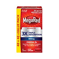 MegaRed Advanced Triple Absorption 800mg 80 Softgels Deals