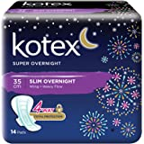 Kotex Super Overnight Feminine Care Pads, 35cm, 14ct