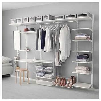 Ikea Algot Wand Aufrechtregaldreifach Haken Weiß Amazonde