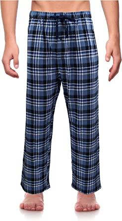 Blue /& White Check Men/'s Woven Lounge Pants Essential Sleepwear Red
