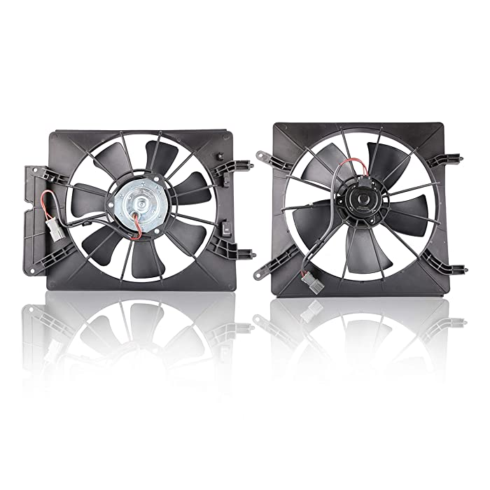 MOSTPLUS Radiator AC Condenser Cooling Fan Assembly for 02-06 Honda CR-V Element Replaces 38611PNA00 (Left + Right Side)