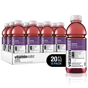 vitaminwater electrolyte enhanced water w/ vitamins, revive fruit punchy, 20 fl. oz (Pack of 12)