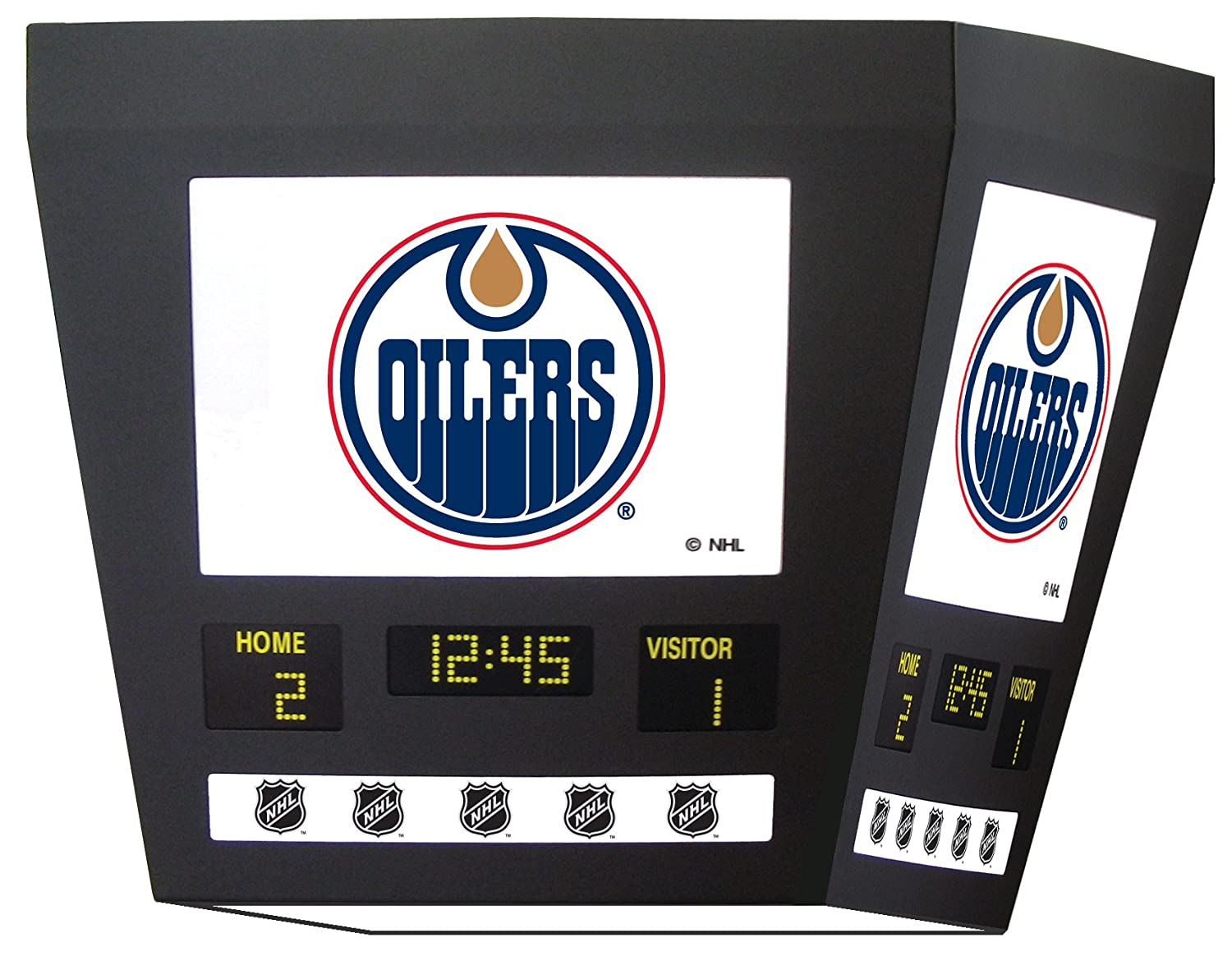 Edmonton Oilers Square Scoreboard Light Billiard Lighting Canada