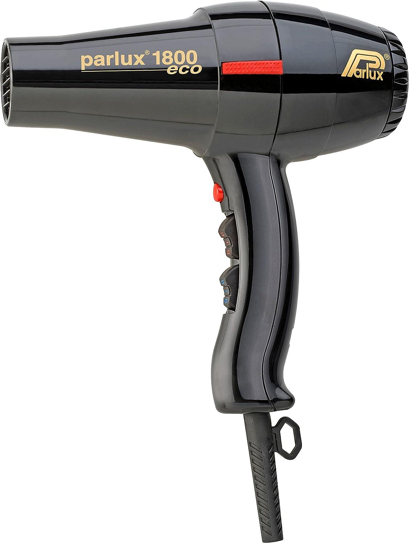 Parlux 1800 Eco Edition - Secador para el cabello, color negro