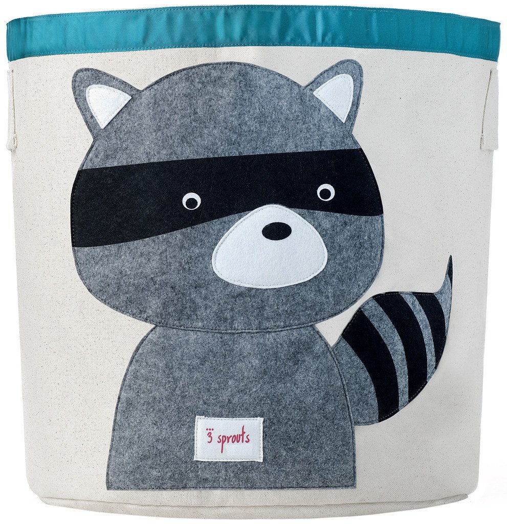sprouts storage bin raccoon grey  sprouts amazonca baby -