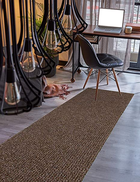 Amazoncom Custom Size Runner Rug Brown Solid Color 26 Inch Wide