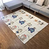 Rachna's Double-Side Printed Environment Friendly XPE Foam Anti-Skid Ultra-Soft Waterproof Foldable Baby Play & Crawl Floor Mat - Multicolor - 150CMS x 200CMS (Print May Vary)