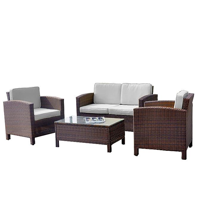 Amazon.de: 13tlg. Deluxe Lounge Set Gruppe Garnitur Gartenmöbel ...