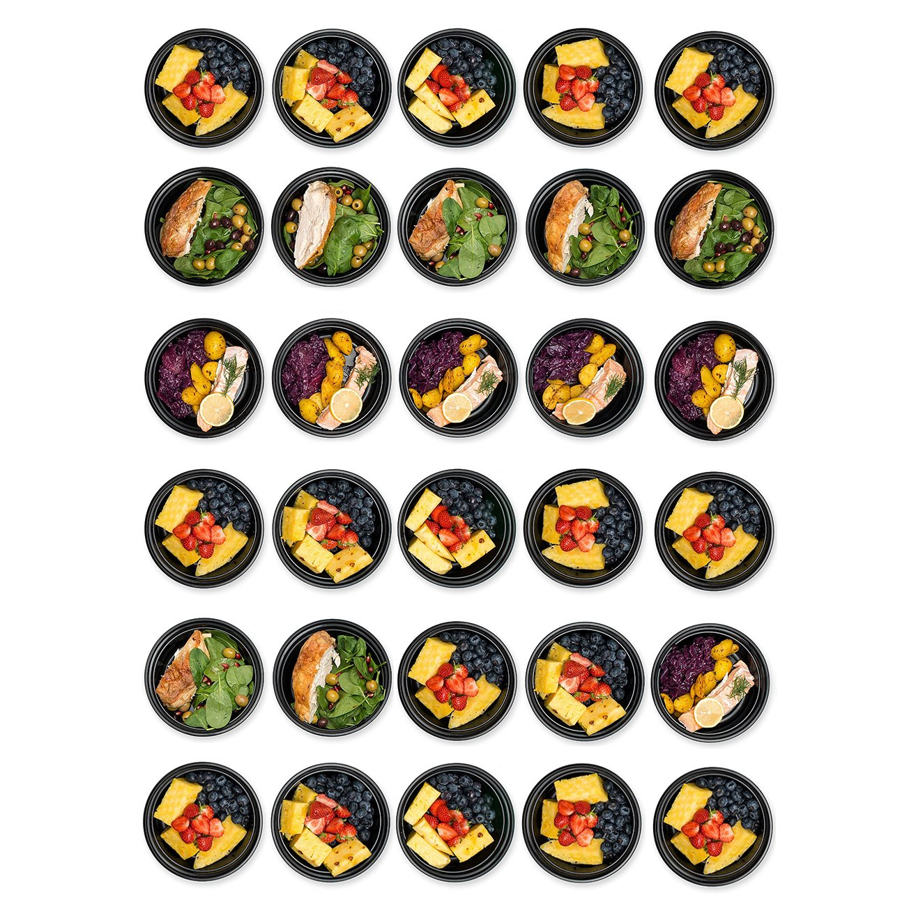 30 Meal Prep Containers Reusable - Disposable Food Containers Meal Prep Bowls - Plastic Containers with lids - Plastic Food Storage Containers with Lids - Lunch Containers for adults to go Containers by Prep Naturals (Image #3)