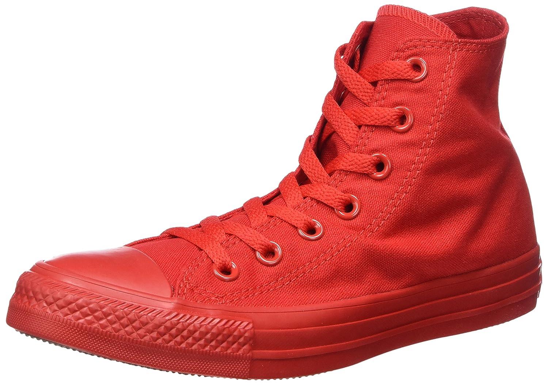 Converse Monocrome All Star Hi - Zapatilla Alta Unisex Adulto 38 EU Rojo