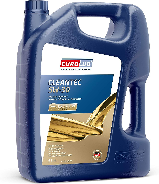 Eurolub 349005 Cleantec 5w 30 Sae 5w 30 Motoröl 5 Liter Auto