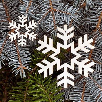 Baumschmuck 2er Sets Schneeflocken Baumbehang   Deko Aus Holz Für  Weihnachten, Weihnachtsschmuck:Schneeflocke Set6