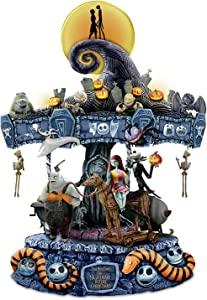The Bradford Exchange Tim Burton's The Nightmare Before Christmas Rotating Musical Carousel Sculpture: Lights Up