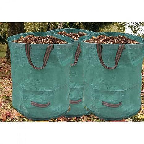 3 pieza Jardín Saco de césped verde tipo bolsa de basura ...