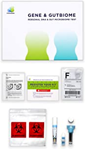 Home DNA Test Kit & Gut Test Combo - Psomagen Gene & GutBiome At Home Health Tests - Personal & Wellness Traits, Nutrition & Metabolism