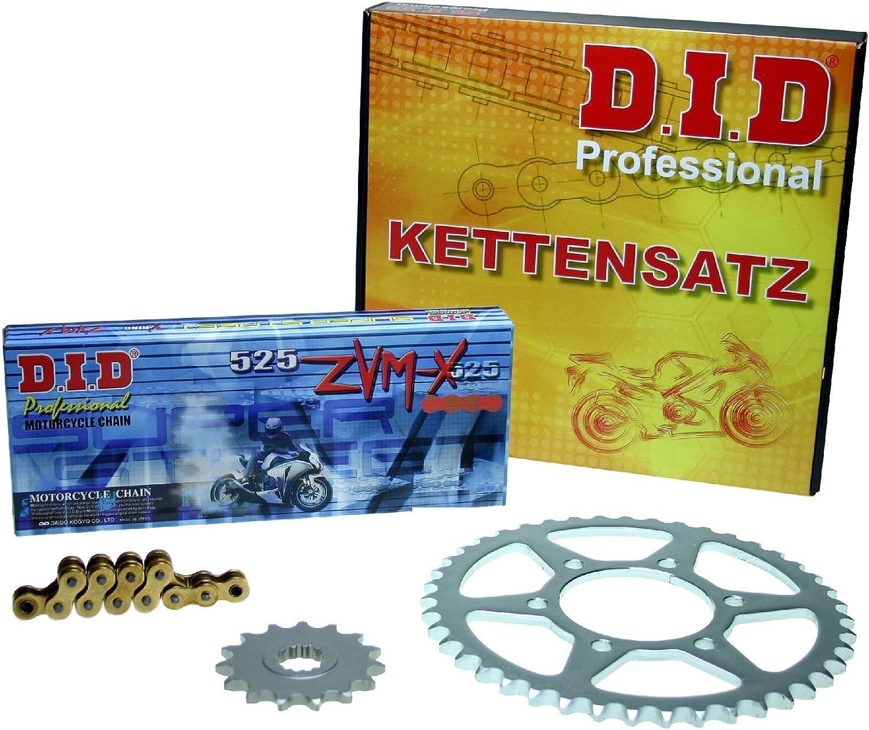 ZVM-X gold Kettensatz f/ür Honda CBR 600 F Bj 01-02-03-04-05-06-07 PC35 offen