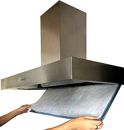 Filtro Universal para Campanas Extractoras. LARGA VIDA. Talla 50x90cm Adaptable, Reemplazo múltiple.: Amazon.es: Hogar