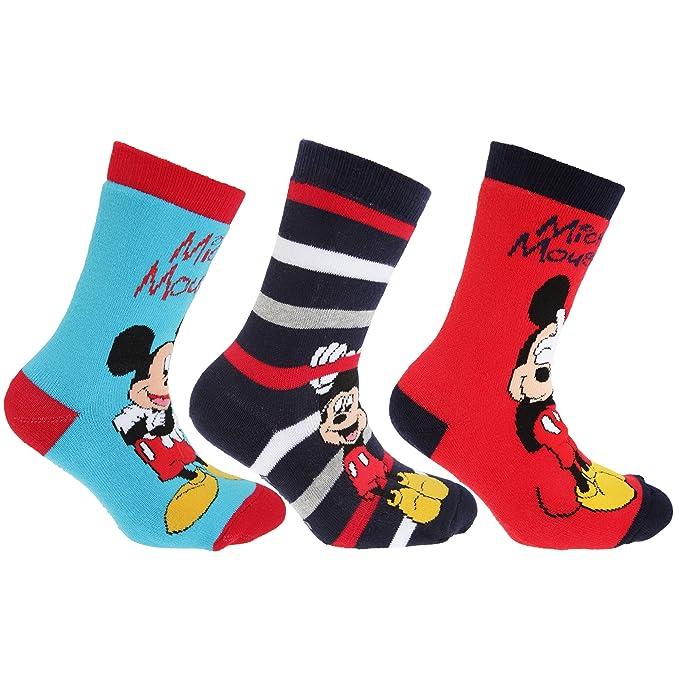 Disney - Calcetines de Mickey Mouse y sus amigos con puntos de agarre en la suela