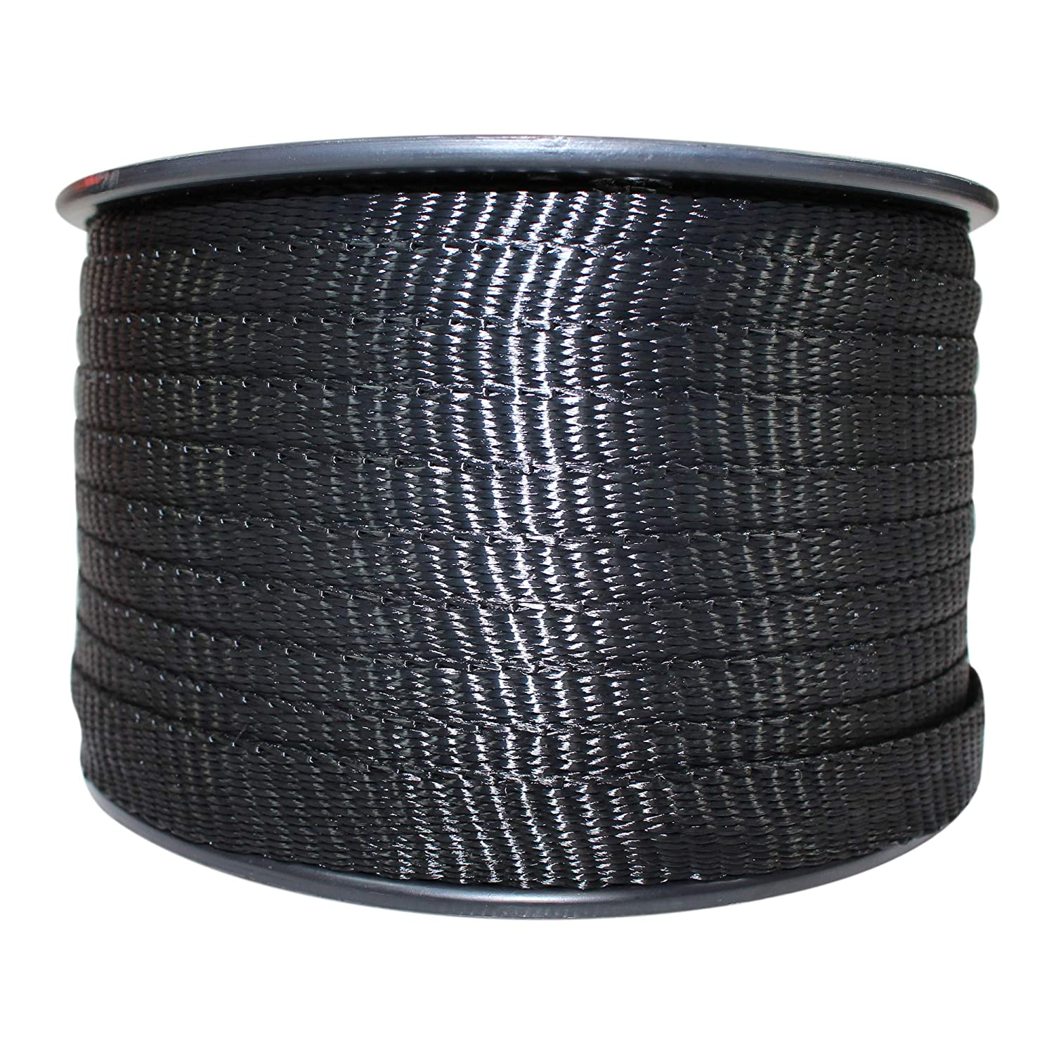Rot Moisture Gardening Marine Commercial Flat Rope Oil Resistant Polyester Webbing - SGT KNOTS 3,000 ft - Orange Utility 5//8 inch UV Arborist Durable Polyester Pull Tape Strap