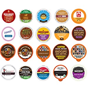 Crazy Cups Custom Variety Pack Coffee Variety Sampler Pack for Keurig K-Cup Brewers (Coffee, 20), n/a