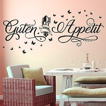 Wandtattoo Guten Appetit Mit Schmetterlingen Küche Esszimmer Essen