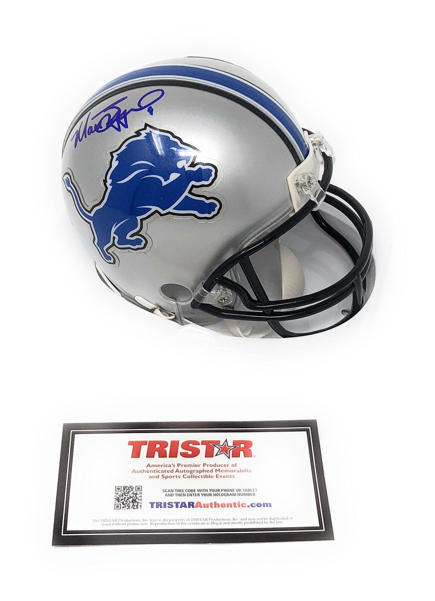 Matthew Stafford Detriot Lions Signed Autograph Mini Helmet Tristar Authentic Certified