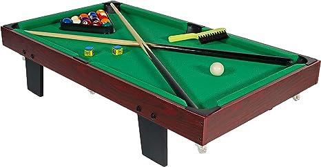 Mesa de billar de Sunnydaze, 91,44 cm, mesa de billar pequeña ...