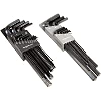 Deals on AmazonBasics 22-Piece Long Arm Hex Key Wrench Set SAE/Metric