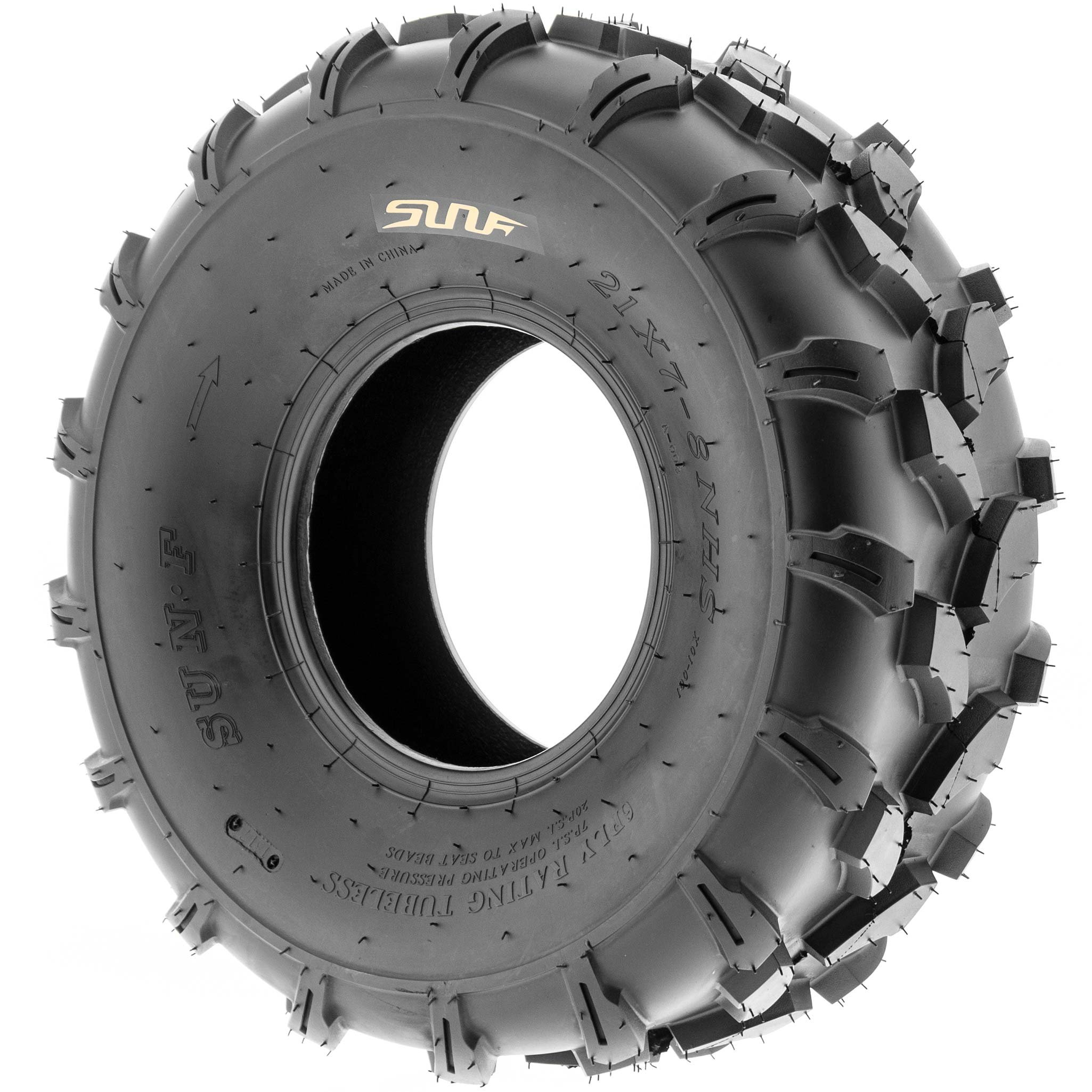 SunF 19x7-8 19x7x8 ATV UTV All Terrain Trail Replacement 6 PR Tubeless Tires A003, [Set of 2] by SUNF (Image #5)