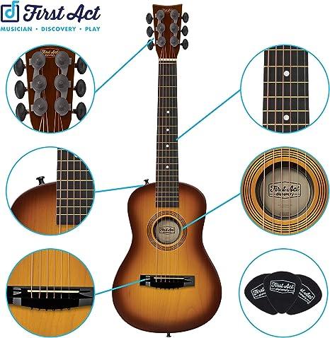 First Act Discovery - Guitarra acústica de 6 cuerdas, ambidiestro ...